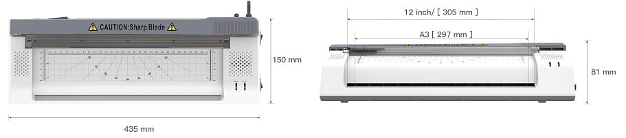 ✅ maquina de plastificar ABOX OL381 medidas